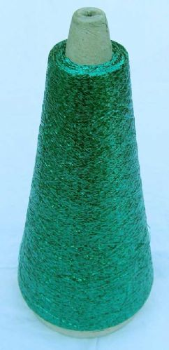 Emerald green metalic Lurex thread fine 3400mtr 50g cone